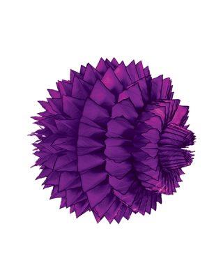 Papīra dekorācija Šūnu bumba ar faktūru, Purple, 33 cm