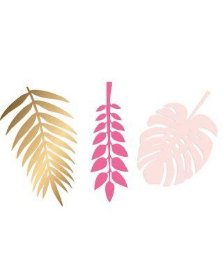 Papīra lapas dekorēšanai Botanical Leaves, Pink