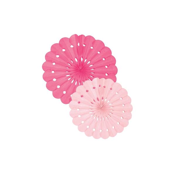 Papīra dekorācija Vēdeklis, rozā, 2 gab.