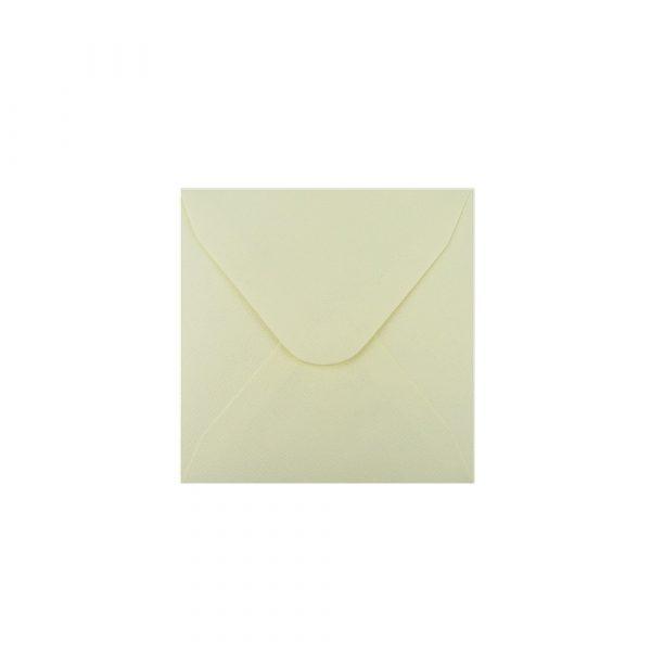 Kvadrāta aploksne ar faktūru, gaiši dzeltena, 13 cm x 13 cm