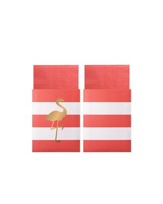 Salvetes Flamingo dekoratīvā aploksnē, 20 gab.