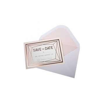 Kartītes un aploksnes Save The Date Geo Blush