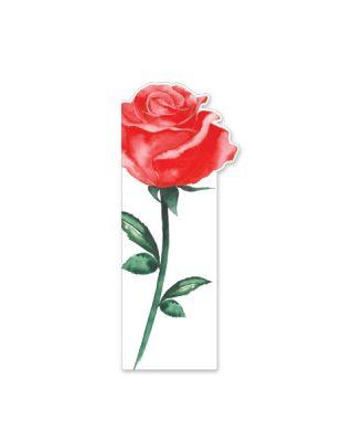 Kartīte - grāmatzīme Roze