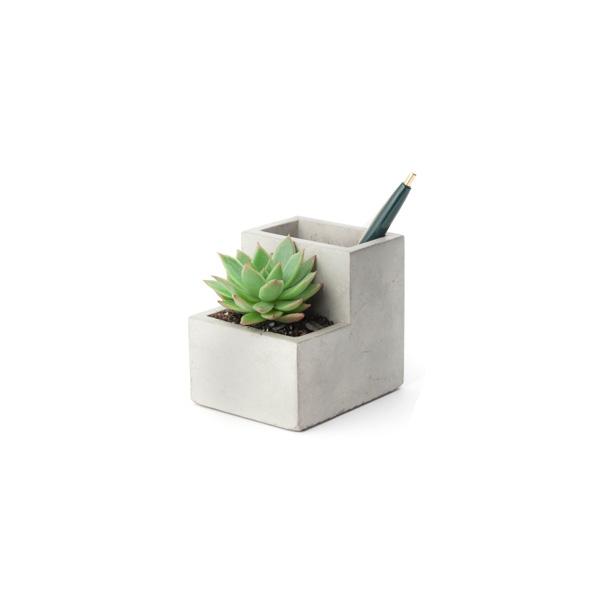 Rakstāmpiederumu trauks Concrete Desktop Planter