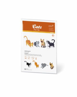 Papīra rotaļa Cats
