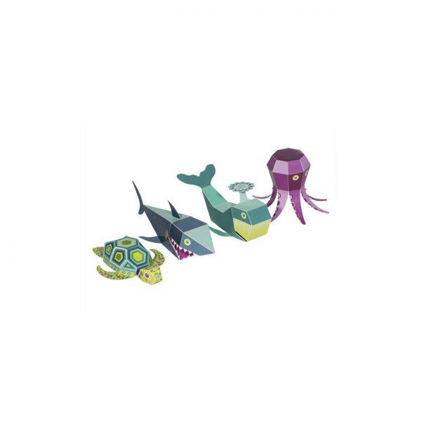 Papīra rotaļa Sea Animals