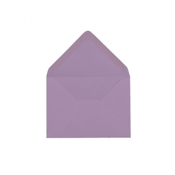 C6 izmēra aploksne, pasteļu violeta, ar ieapaļu aizdari