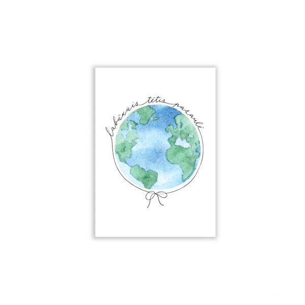 Kartīte Labākais tētis pasaulē, zemeslode