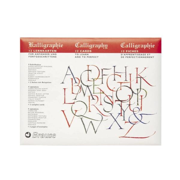 Kaligrāfijas vingrinājumu lapas Calligraphy Instruction Cards