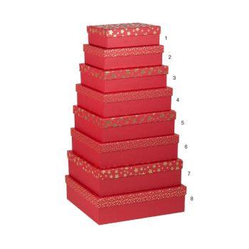 Dāvanu kaste Zelta zvaigznes, sarkana, Nr.2