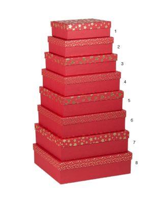 Dāvanu kaste Zelta zvaigznes, sarkana, Nr.6