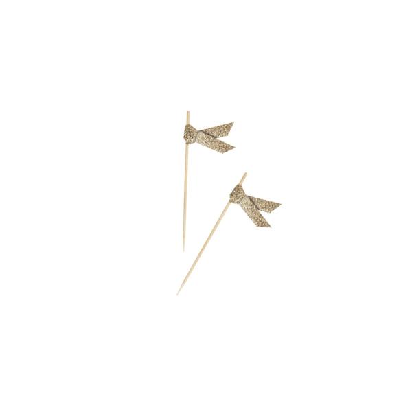 Dekoratīvie kociņi – Lentītes, mirdzošs zelts