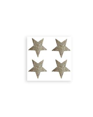 Uzlīmes Decor Stars, mirdzošs zelts