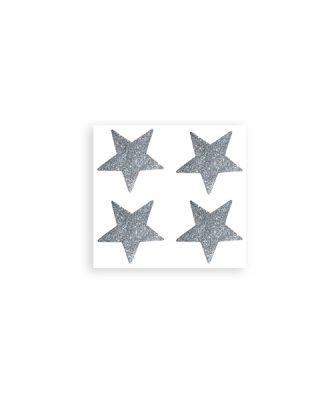 Uzlīmes Decor Stars, mirdzošs sudrabs
