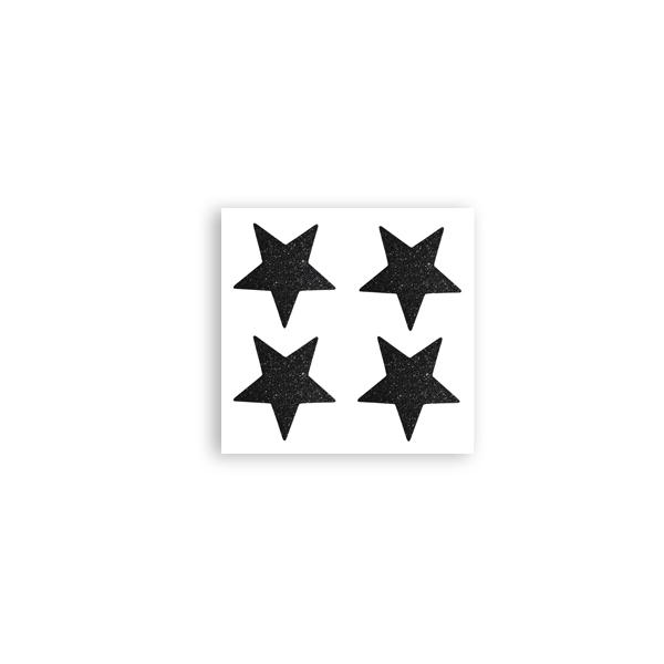 Uzlīmes Decor Stars, mirdzošs melns