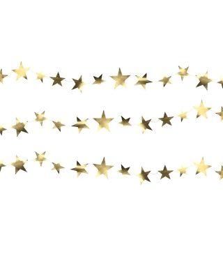 Papīra virtene Star, zelta