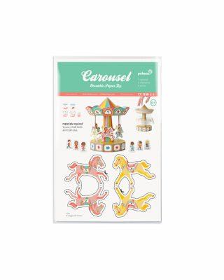 Papīra rotaļa Karuselis