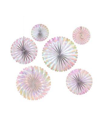 Papīra vēdekļi Iridescent Pinwheels