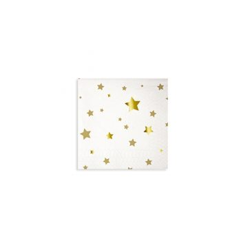 Salvetes Toot Sweet Gold Star Pattern
