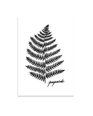 Kartīte Paparde, letterpress