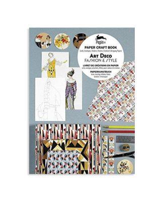 Rokdarbu grāmata Paper Craft Book Art Déco