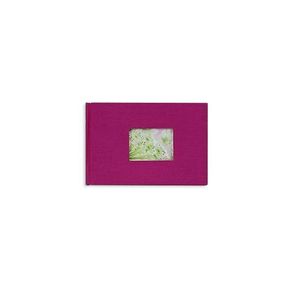 Mini fotoalbums, lina vāks, 17,5 x 12 cm, 12 bildēm, rozā