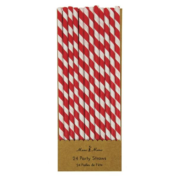 Papīra salmiņi Red Stripes