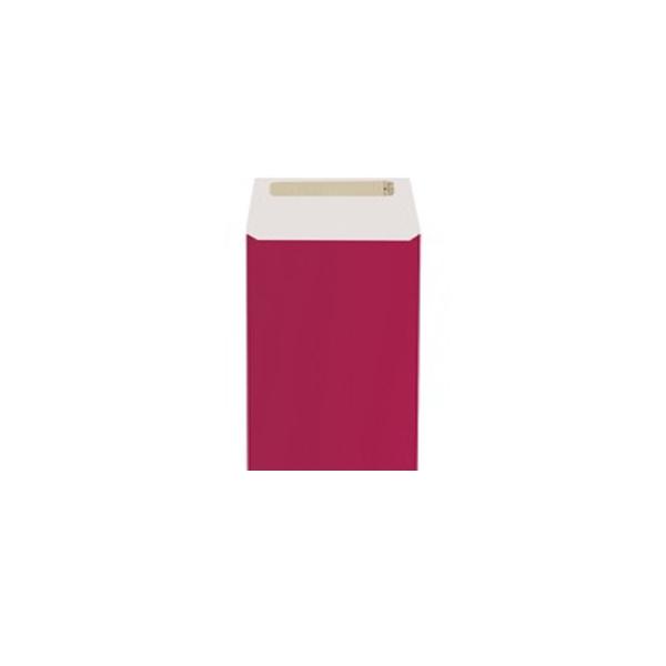 Dāvanu maisiņš, 12 cm x 16 cm, bordo, aizlīmējams