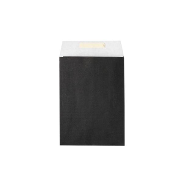 Dāvanu maisiņš, 22 cm x 30 cm, melns, aizlīmējams