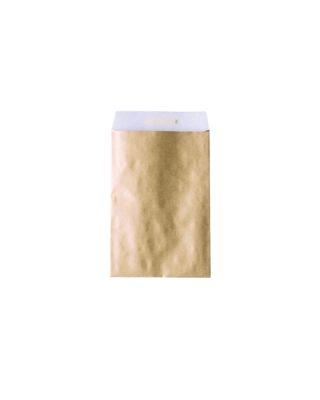 Dāvanu maisiņš, 12 cm x 16 cm, zelta, aizlīmējams