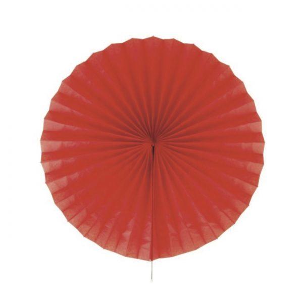 Papīra puķe – vēdeklis, sarkans, 50 cm