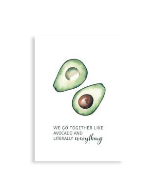 Kartīte We go together, Avocado
