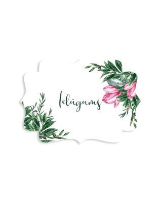 Kartīte Retro, Magnolijas, Ielūgums