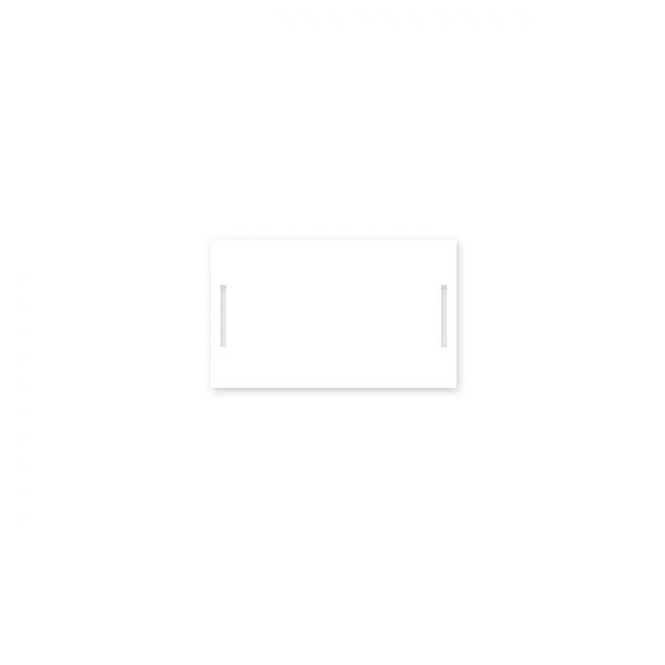 Mini kartīte – etiķete ar iegriezumiem, tukša