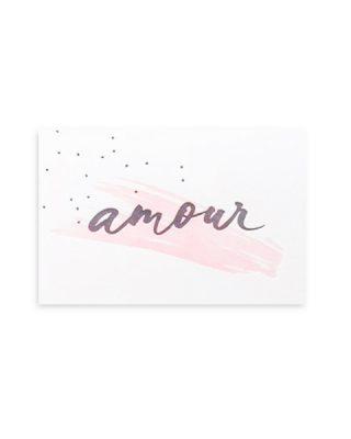 Kartīte Amour, Brush & Confetti, Rozā triepiens