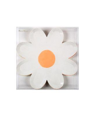 Papīra šķīvji Pastel Daisy