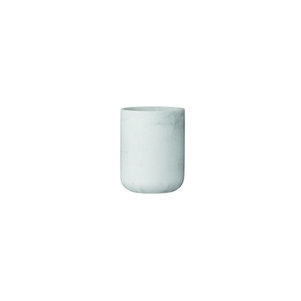 Trauks Marble, Ø 7.5 cm x 9.5 cm, balts