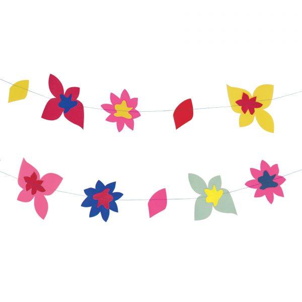 Papīra ziedu virtene Krāsaini ziedi
