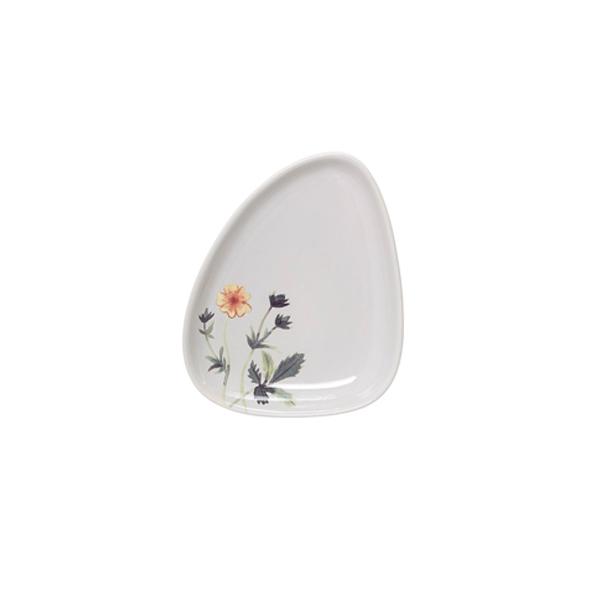 Šķīvis Flora, keramikas, gaiši pelēks