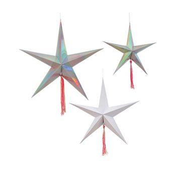 Dekoratīvas papīra zvaigznes 3 shooting stars