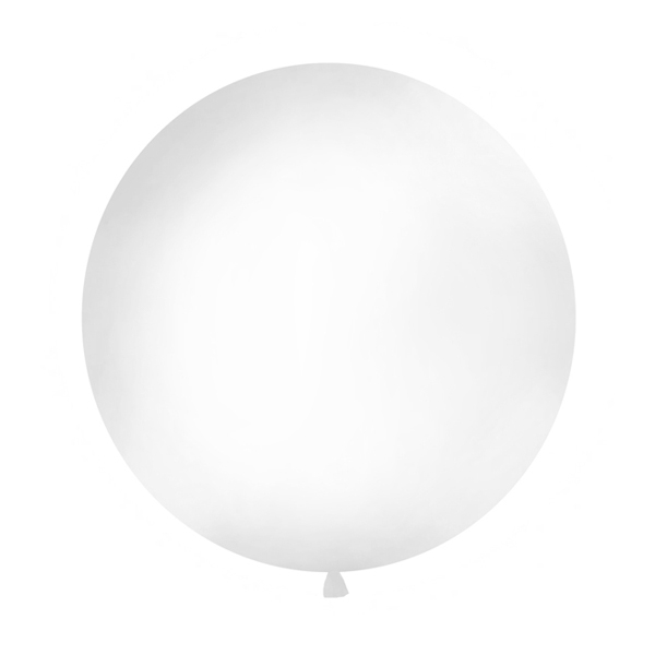 Balons Mexican round, Giant, Pastel white, 1 gab.