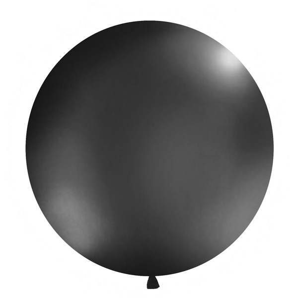 Balons Mexican round, Giant, Pastel black, 1 gab.