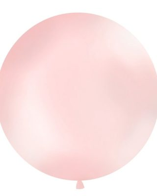 Balons Mexican Round, Giant, Metallic light pink, 1 gab.