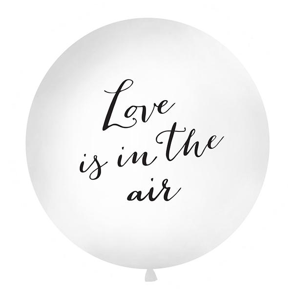 Balons Love is in the air, Giant , melni burti, 1 gab.