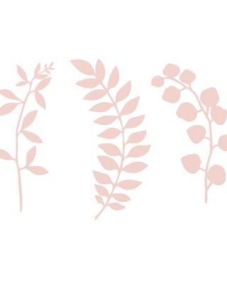 Papīra dekorācija Branch, gaiši rozā, 9 gab.