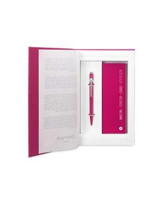 Piezīmju grāmatas un pildspalvas komplekts My story to.. purpura sarkans
