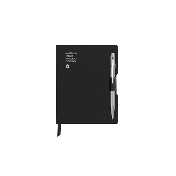 Piezīmju grāmatas un pilspalvas komplekts, A6, melns