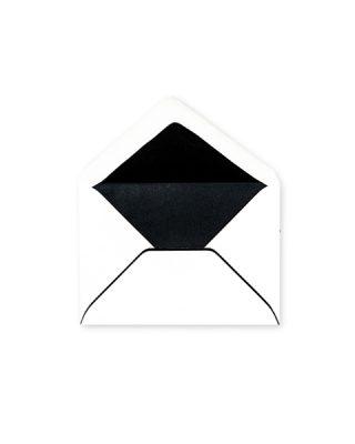 C6 izmēra Aploksne, melns rāmis