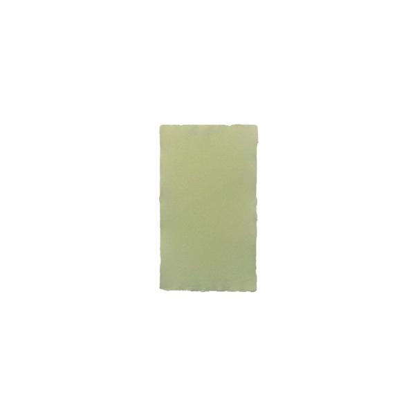 Rokas lējuma papīra kartīte, vienpusēja, gaiši zaļa
