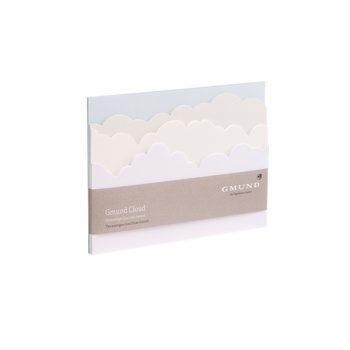 Noplēšamu lapu pierakstu bloks Cloud pastell